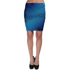 Abstract Fractal Blue Background Bodycon Skirt