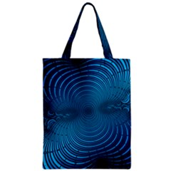 Abstract Fractal Blue Background Classic Tote Bag