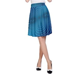 Abstract Fractal Blue Background A-Line Skirt