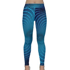 Abstract Fractal Blue Background Classic Yoga Leggings