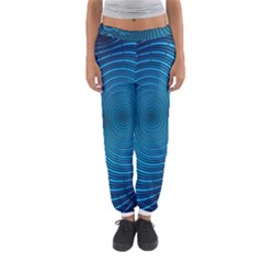Abstract Fractal Blue Background Women s Jogger Sweatpants