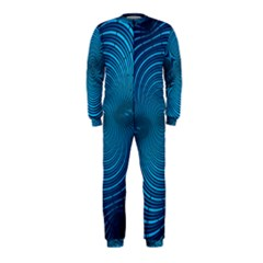 Abstract Fractal Blue Background Onepiece Jumpsuit (kids)