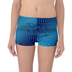 Abstract Fractal Blue Background Reversible Bikini Bottoms