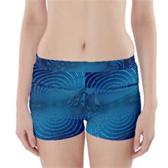 Abstract Fractal Blue Background Boyleg Bikini Wrap Bottoms