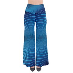 Abstract Fractal Blue Background Pants