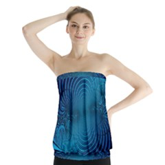 Abstract Fractal Blue Background Strapless Top