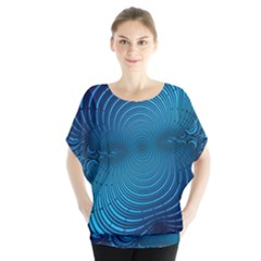 Abstract Fractal Blue Background Blouse