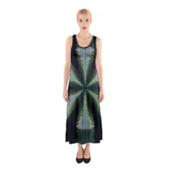 Lines Abstract Background Sleeveless Maxi Dress