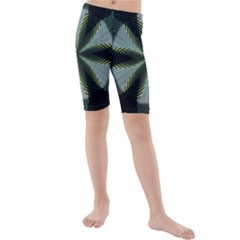 Lines Abstract Background Kids  Mid Length Swim Shorts