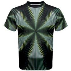 Lines Abstract Background Men s Cotton Tee
