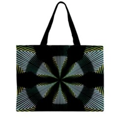 Lines Abstract Background Zipper Mini Tote Bag