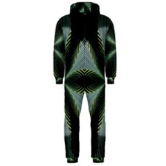 Lines Abstract Background Hooded Jumpsuit (men)
