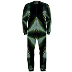 Lines Abstract Background Onepiece Jumpsuit (men)