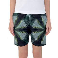 Lines Abstract Background Women s Basketball Shorts