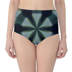 Lines Abstract Background High Waist Bikini Bottoms