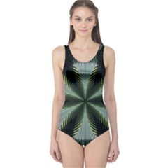 Lines Abstract Background One Piece Swimsuit