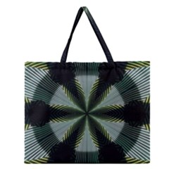 Lines Abstract Background Zipper Large Tote Bag