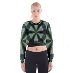 Lines Abstract Background Women s Cropped Sweatshirt