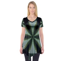 Lines Abstract Background Short Sleeve Tunic