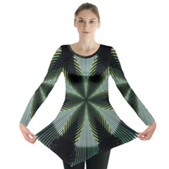 Lines Abstract Background Long Sleeve Tunic