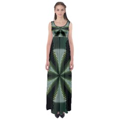 Lines Abstract Background Empire Waist Maxi Dress