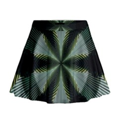 Lines Abstract Background Mini Flare Skirt