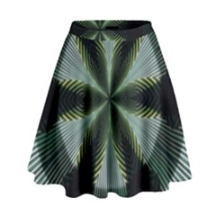 Lines Abstract Background High Waist Skirt