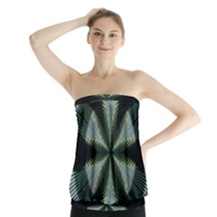 Lines Abstract Background Strapless Top