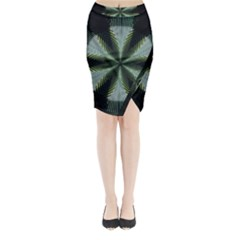Lines Abstract Background Midi Wrap Pencil Skirt