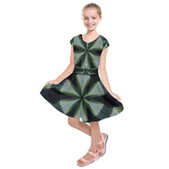 Lines Abstract Background Kids  Short Sleeve Dress