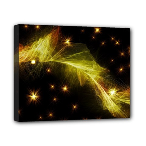Particles Vibration Line Wave Canvas 10  X 8