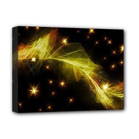 Particles Vibration Line Wave Deluxe Canvas 16  X 12