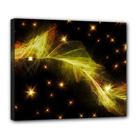 Particles Vibration Line Wave Deluxe Canvas 24  X 20