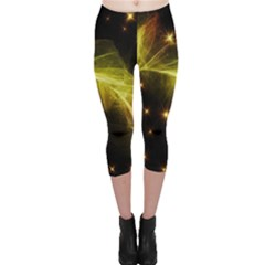 Particles Vibration Line Wave Capri Leggings