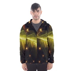 Particles Vibration Line Wave Hooded Wind Breaker (men)