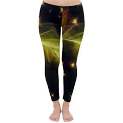 Particles Vibration Line Wave Classic Winter Leggings