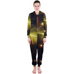 Particles Vibration Line Wave Hooded Jumpsuit (ladies)