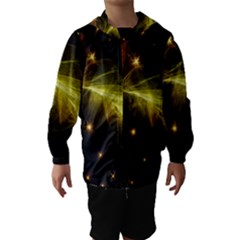 Particles Vibration Line Wave Hooded Wind Breaker (Kids)