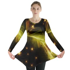 Particles Vibration Line Wave Long Sleeve Tunic