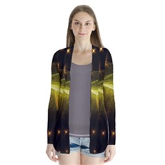 Particles Vibration Line Wave Cardigans
