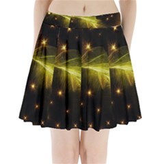 Particles Vibration Line Wave Pleated Mini Skirt