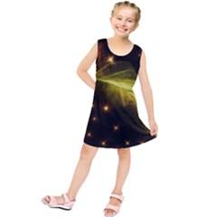Particles Vibration Line Wave Kids  Tunic Dress