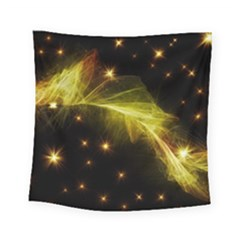 Particles Vibration Line Wave Square Tapestry (small)