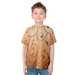 Texture Material Textile Gold Kids  Cotton Tee