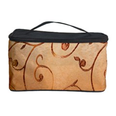 Texture Material Textile Gold Cosmetic Storage Case