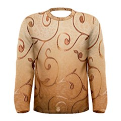 Texture Material Textile Gold Men s Long Sleeve Tee