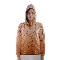 Texture Material Textile Gold Hooded Wind Breaker (women)