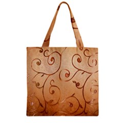 Texture Material Textile Gold Zipper Grocery Tote Bag