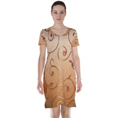 Texture Material Textile Gold Short Sleeve Nightdress