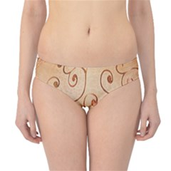 Texture Material Textile Gold Hipster Bikini Bottoms